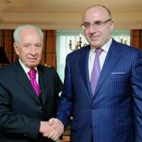 Экс-президент Израиля Шимон Перес и Теймураз Юрьевич Хихинашвили